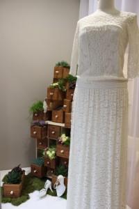Décor vitrine pour la boutique Ma Robe