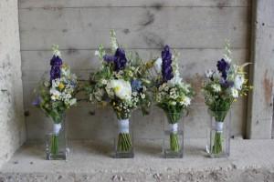 Fin et Dom - Bouquet mariée et Bridesmaids